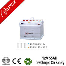 Matrix Solar Powered Systems Batteries 12V 55AH Dry Charged Car Battery