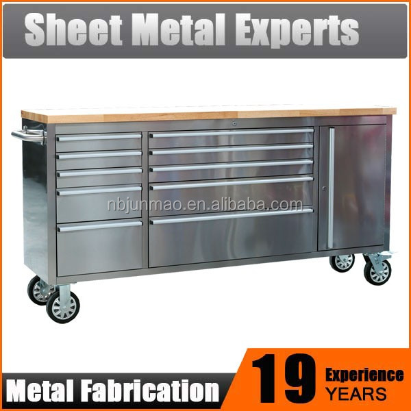 Heavy Duty Mobile Workbench on wheels / 72 inch tool cabinet garage