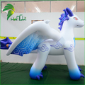 Popular Durable 0.4mm PVC White Inflatable Zenith Dragon With Wings For Sale