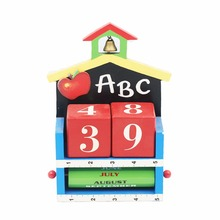 Colorful ABC number ruler print 2018 advent Christmas desk calendar