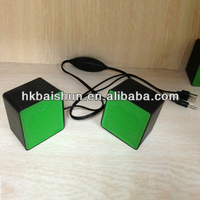 2014 Newest portable high quality mini car speaker with manual, fm radio,2.0 stereo sound
