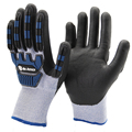 NMSAFETY double liner nitrile winter TPR impact resistant mechanic glove