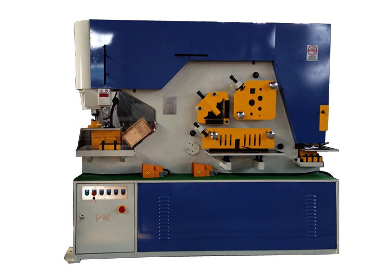 High speed hydraulic ironworkers for hole punching