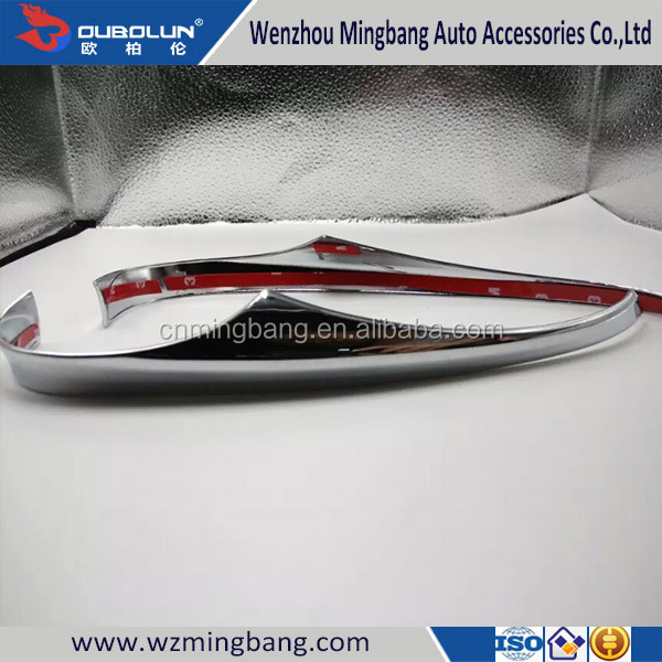 Chrome Car Side Mirror Scuff Plate for Mazda 3 Axela 2014 Interior Accessories
