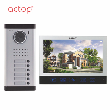 Shenzhen factory ACTOP wired video door phone water proof for 6 apartments intercom