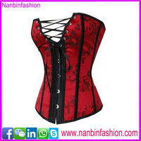 High quality hollow out red sexy busty corset lingerie