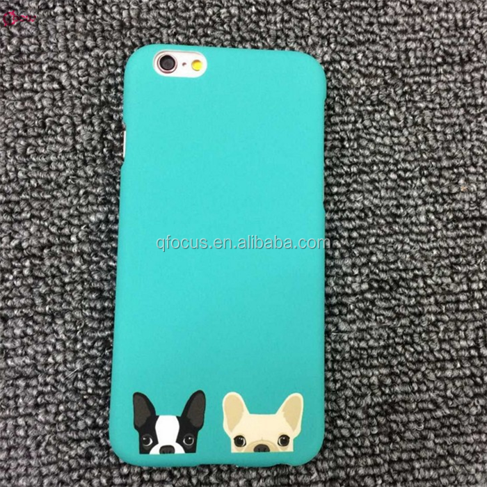 Cartoon Bulldog PC Hard Matte Mobile Phone Case for iPhone 6/6 Plus