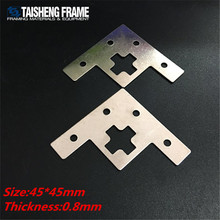 Customized L shape bracket <strong>flat</strong> fitting plate T bracket and hook furniture part metal stamping part steel bracket