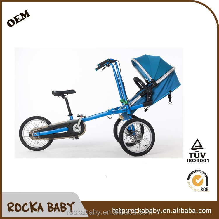 Hot sale foldable 3 wheel adults stroller baby bike 3in1