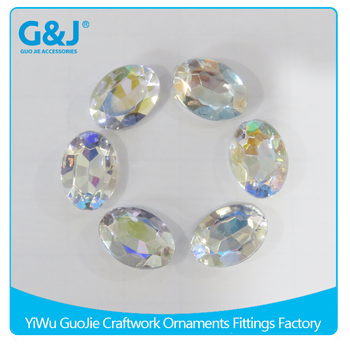 guojie brand wholesale for Hand Craft oval shape beads acrylic stone crystal