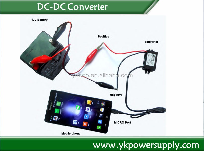 dc dc converter 12v to 24v 5A 120w electric car power supply transformer