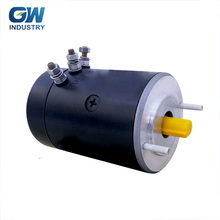 Tracking System GW 1500rpm 24v brush permanent magnet dc traction motor