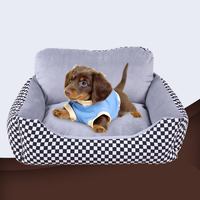 Wholesale Warm plush Dog Bed, Removable pet dog bed, Washable Coverpet bed cushion for Winter