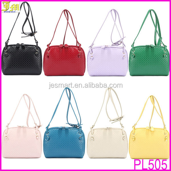 2014 Top Selling Women PU Leather Weave Knit Single Shoulder Strap Small Bag Handbag Purse Tote Cross Body Messenger Bags