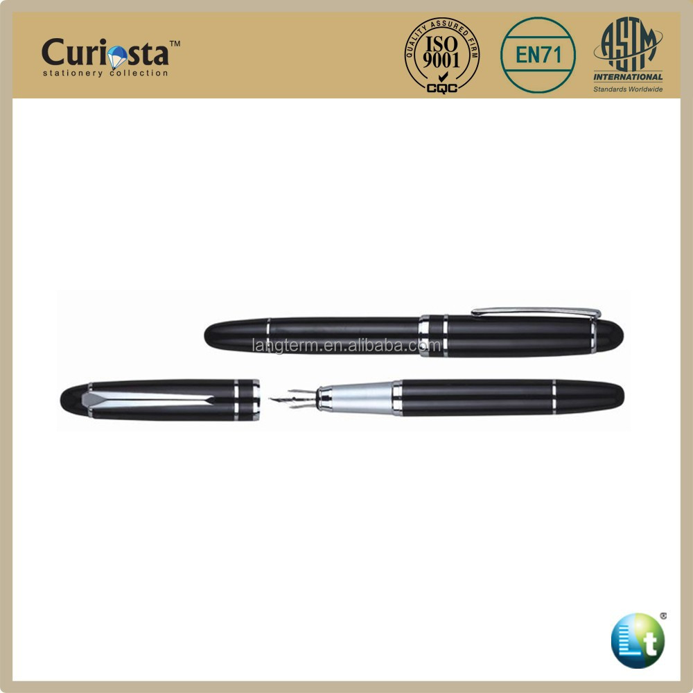Metal roll cap fountain pen
