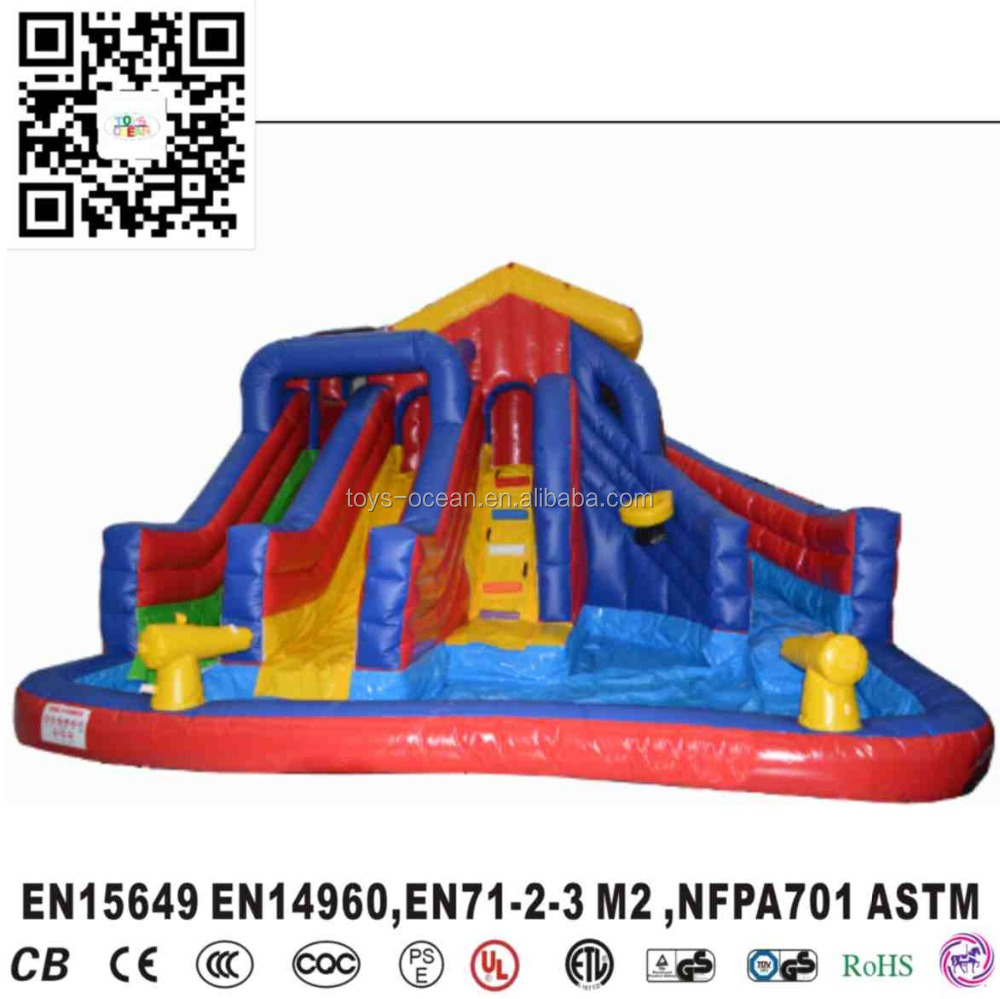 Top Sale Water Park inflatable water slide with cannon and pool