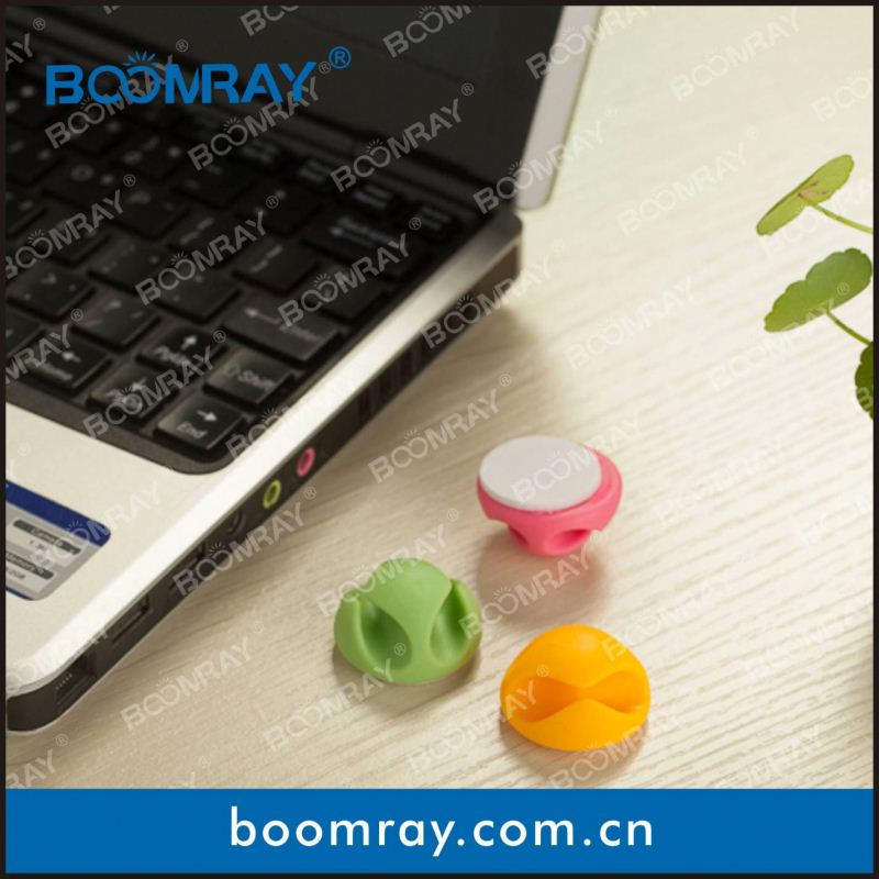 boomray factory 2014 promotional TPR colorful multipurpose cable management new year office gift
