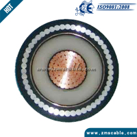 120kv High Voltage Single Core XLPE PVC AWA PVC Power Cable