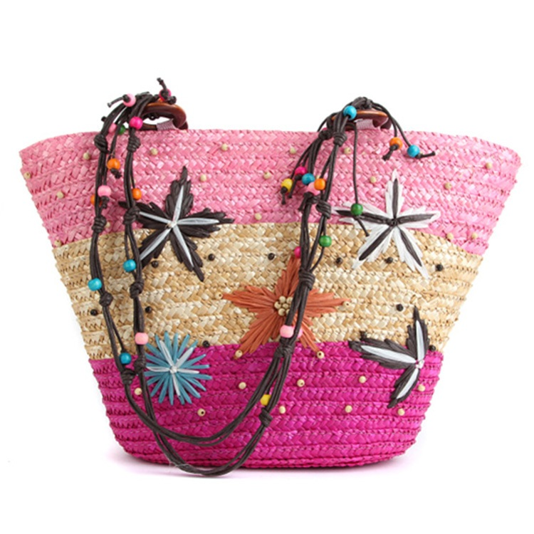 Bolsa Feminina New Women Shoulder Bags Straw Weave Handicraft Summer Bohemian Style Gentlewomen Hand Beach Bag