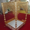 Customized Gold Metal Sedan Chair For