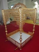 customized gold metal sedan chair for weddings