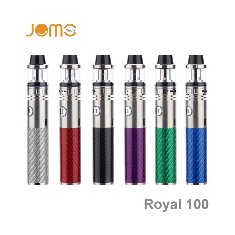 Slim ecig pen Royal 100w mod vaping box colorful battery vape Jomo cheap vaporizer pen Royal 100