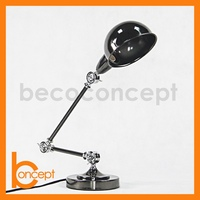 80CM Wrought Iron Retro Nickel Plated Adjustable LED Table Lamp