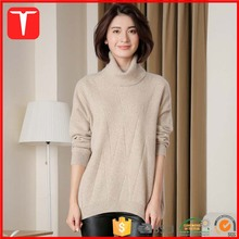 Women unique roll neck italy cashmere sweater wholesale