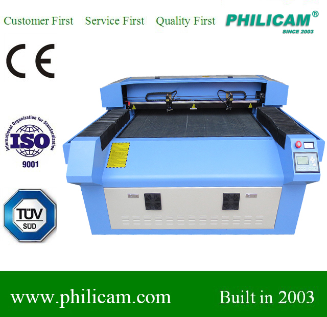 co2 laser machine work for wood, acrylic, mdf, metal with 2heads