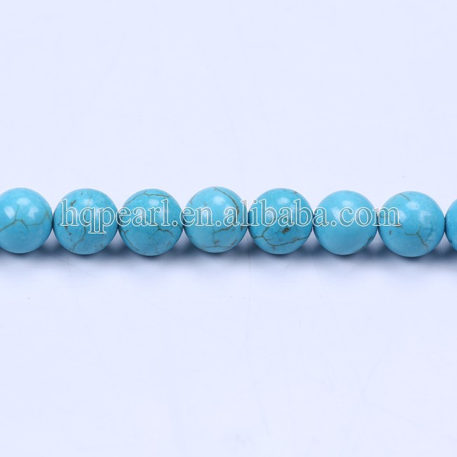 8mm round green turquoise beads strings