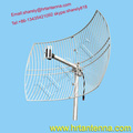 2300 ~ 2700MHz 24dBi Wideband Outdoor Directional Point To Point Grid Parabolic Antenna TDJ-2327SP9