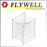 7 Tier Metal Wire Storage Basket with Wheels