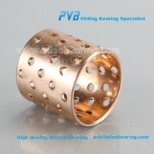 high hardness roller bush,customized WB702 spilt bronze bearing,PVB092 bronze bushing with round oil <strong>holes</strong>