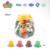 100pcs assorted fruit jelly in cartoon animal pig head