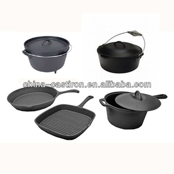 cast iron dutch oven three legged pot