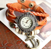 ladies leather strap anchors watches vintage bracelet wrist watches china supplier