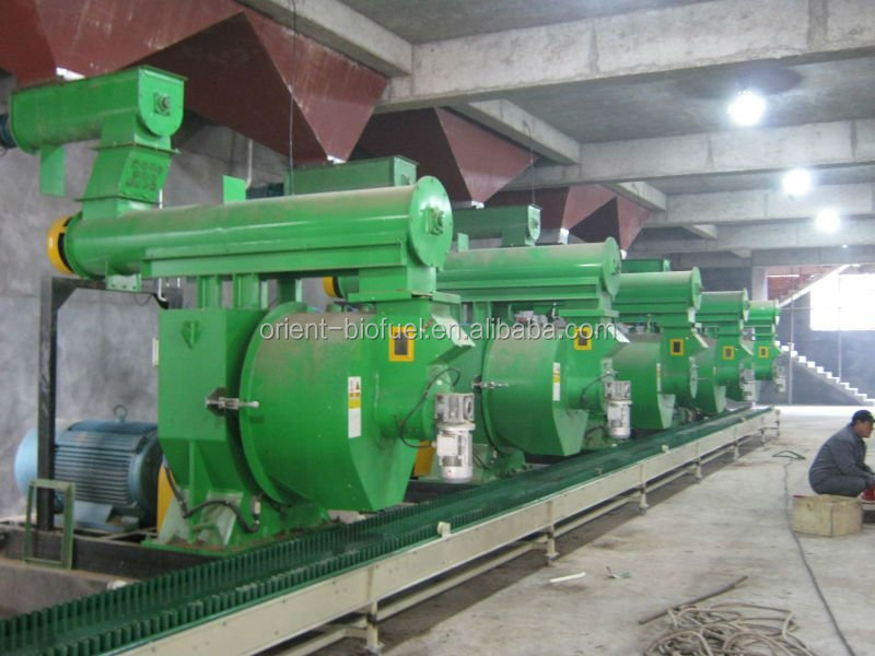 Wood biomass pellet mill industry and high quality production (line)