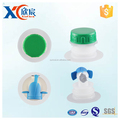 Sales plastic shut-off valve green round well cover for bib bag in box