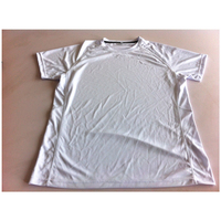 Plain 100% polyester t-shirt with side panel mesh t shirt