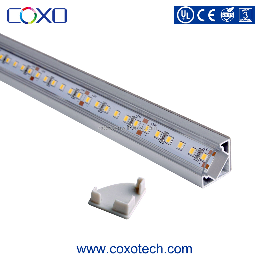 COXO New Design V Shape Aluminum Profile Linear Led Strip with Cover