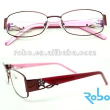 2012 fashion metal optical glasses frames RS12-L032 red