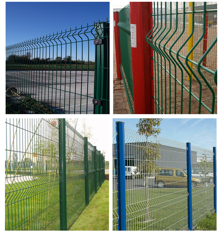 3D green vinyl coated welded wire mesh fence