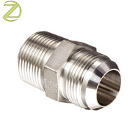 Custom Made Stainless Steel Male Female Adaptor Fittings Hexagon Knurling Anode Connector Brass