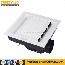Exhaust fan with LED lighting panel and ventilation fan for bathroom use ceiling fan