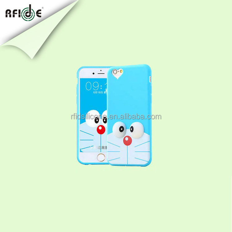 newest cute cartoon cube silicone mobile phone case importer