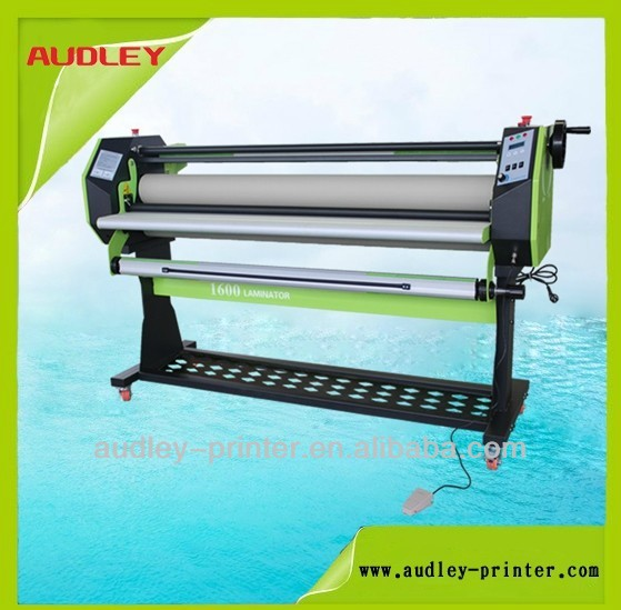 Audley 1.6m single side electric paper hot pvc card laminating machine