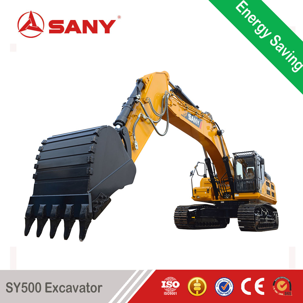 SANY SY500H 50 Tons Rock Digging Machine Large Plant Hole Digger Excavator