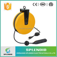 Professional manufacturer electrical cord storage reel heavy duty retractable power cord reel