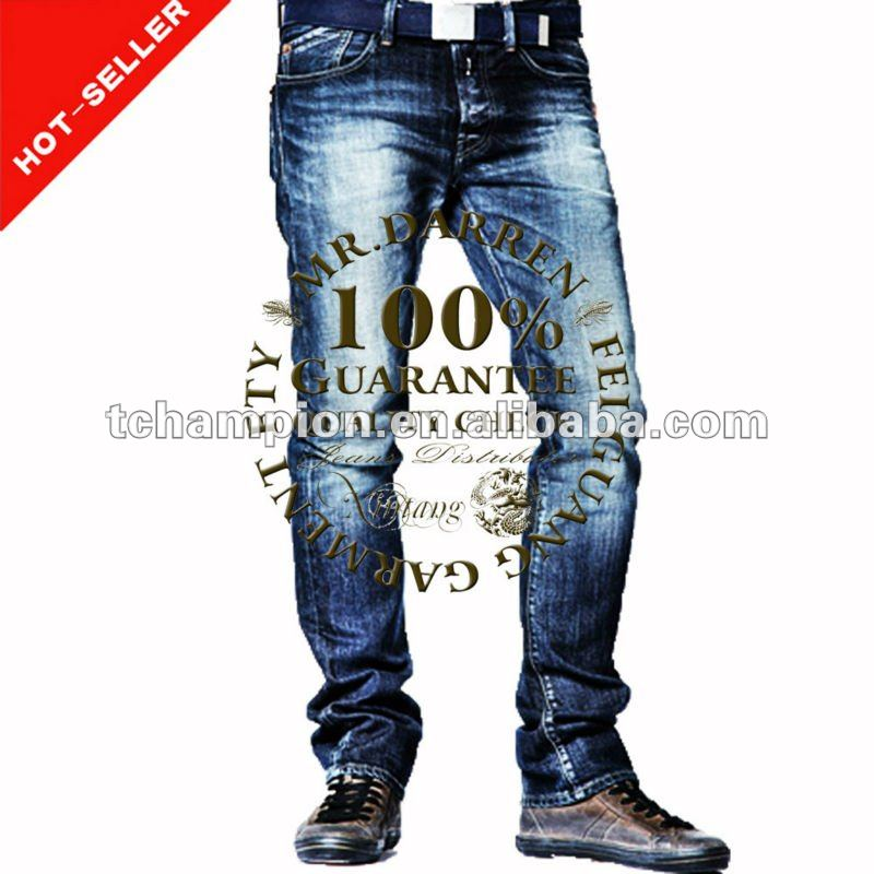 (#TG133M) 2013 straight leg whiskers new style fashion men jeans turkey