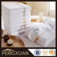 thickness quick drying hotel embroidered white bath towel